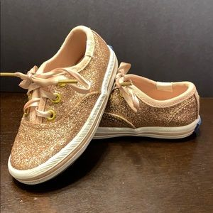 Rose gold Sparkly Keds
